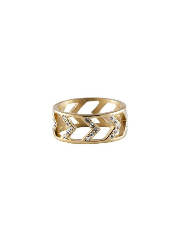 Gold Chevron Ring - Size 9