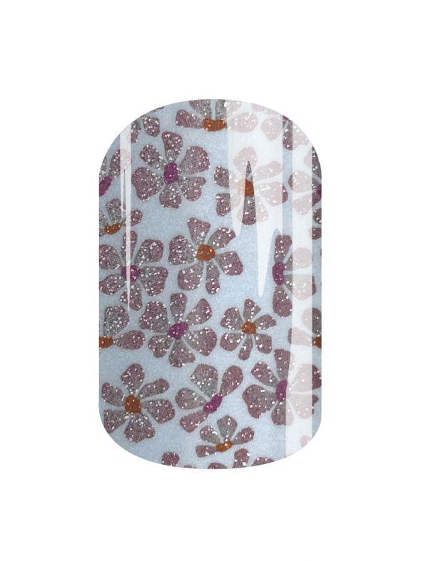 Glittery Blooms - Nail Wrap