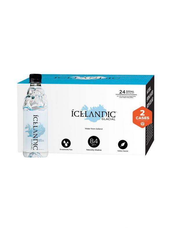 Icelandic Glacial Water [500mL] x2 cases   48 bottles