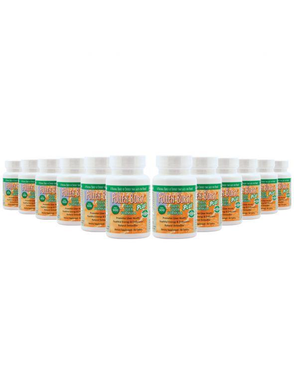 Pollen Burst™ Plus - Daily Liver Formula - 60 tablets Plus Daily Liver Formula - 60 tablets (12 Pack)