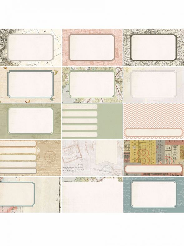 Pocket Vintage  by Katie Pertiet Pocket Journal Cards - Set 30